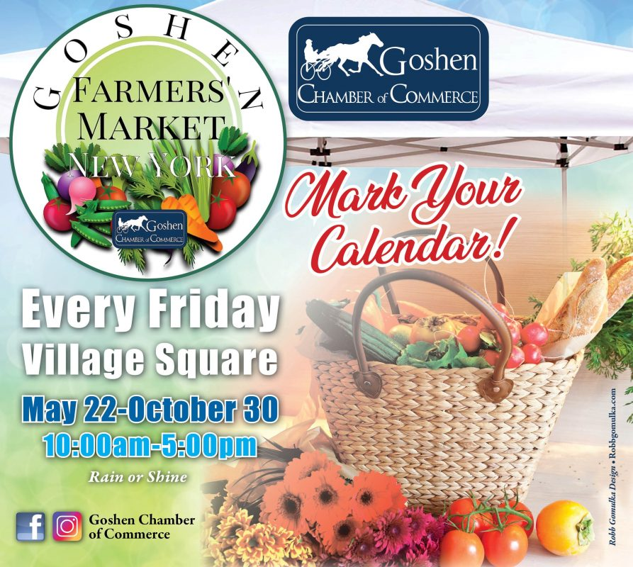 Goshen Chamber Farmers Market 2020 flier
