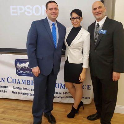 County Executive Neuhaus, Executive Director Barbara Martinez, Board President Mark Kalish
