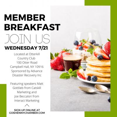 Member Breakfast Marketing